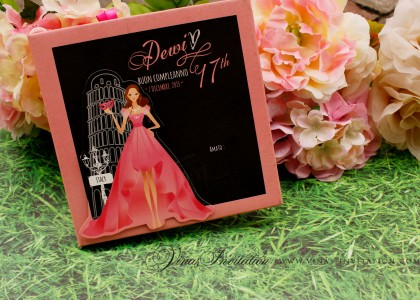 Dewi – sweet 17th invitation