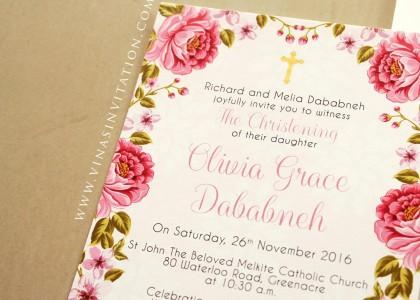 Olivia Grace Dababneh – Christening Invitation
