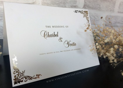 Charbel & Yvette – wedding food menu