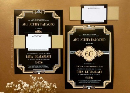 Ang Johny Harsono 60th birthday invitation