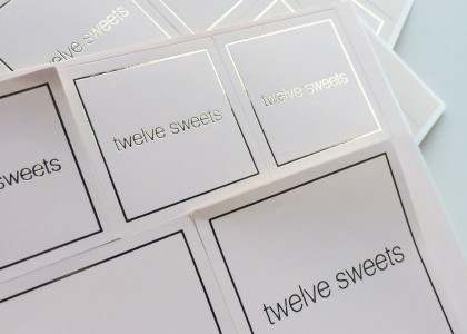 Twelve Sweets – Branding stickers
