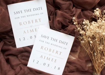 Save The Date Robert & Aimee