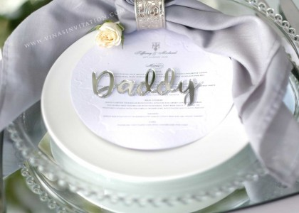 Tiffany & Michael – Place Card